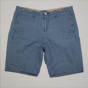 rag & bone dark wash Bermuda shorts